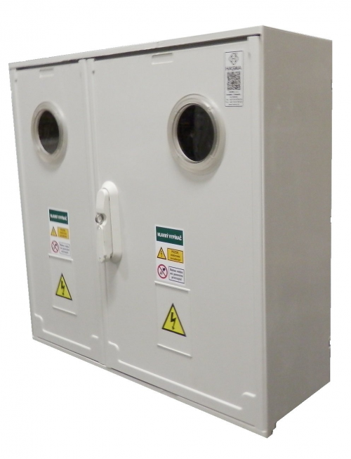 Elektromerový rozvádzač pod omietku  -RE 1.0 Z66 W 2x xxA P0, 3F, 2T, 25/16mm2, do 63A, 2x