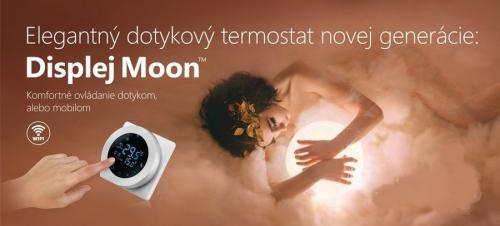 Dotykový termostat Displej Moon WiFi