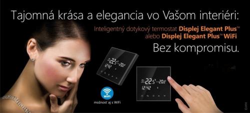 Dotykový termostat WIFI  – Displej Elegant Plus WIFI