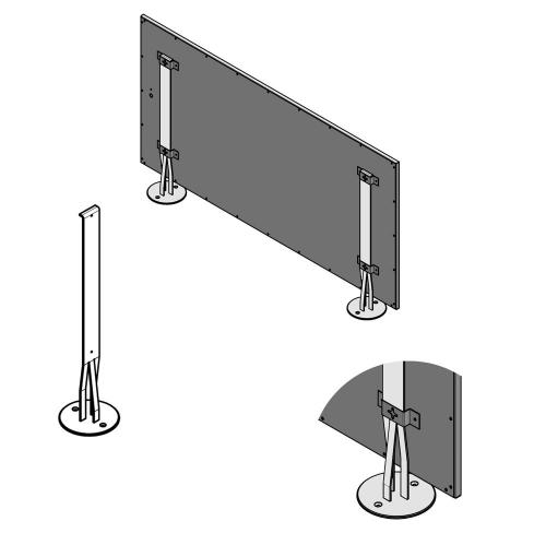 Podpěry panelů ECOSUN